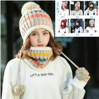 Women Winter Scarf Sets Cap Collar Mask Facial Protection Gi...