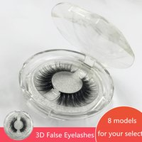 in stock! 8 Styles 1 Pair box 3D Eyelashes Eye lashes Handma...