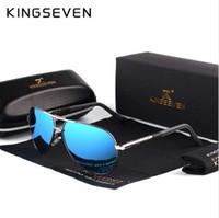 KINGSEVEN Aluminum Magnesium Men's Sunglasses Polarized Men Coating Mirror Glasses oculos Male Eyewear Accessories For Men K725