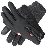 Windstopers Handschuhe Anti Slip Winddicht Thermische Warm Touchscreen Handschuh Atmungsaktiv Tacticos Winter Männer Frauen Schwarz Zipper Handschuhe