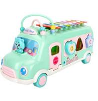 Çocuk Müzik Oyuncaklar Bebek Piyano Enstrüman Çocuk Otobüs Sıralayıcısı 8-Note anahtar Piyano Yürüyor Eğitim Ses Bebek Oyuncak Vurmak