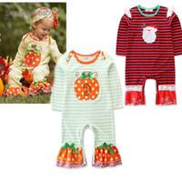 جديد هالوين اليقطين الطفل السروال القصير شريط ملابس الفتيات حديثي الولادة لطيف طويلة الأكمام الرضع قطعة واحدة ملابس طفلة ملابس A1933