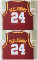 Brian Scalabrine Hombres Universidad del Sur de California Jersey para hombre USC Jersey Escuela de Baloncesto jerseys de deportes rojo Jersey