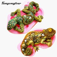 3D Lizard Cake Mold Silicone Mold Chocolate Gypsum Candle So...
