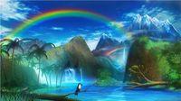 فسيفساء المنزل الديكور المشهد شلال الجبل diy الماس اللوحة عبر غرزة طقم حجر الراين الكامل مربع الماس التطريز zxh1346