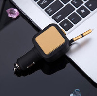 Two USB Ports Telescopic Line Intelligent Car Charger Univer...
