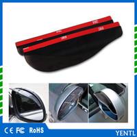 2x schwarz Auto Rückspiegel Regen Wasser Regenschutz Augenbrauen Abdeckung DE