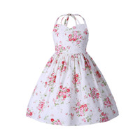 Kids Princess Dresses Floral Sleeveless Cotton Baby Girl Dre...