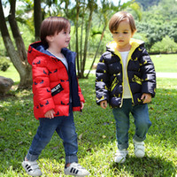 Baby outerwear boy thick clothing 2018 winter 90% down jacke...