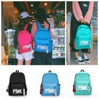 Pink Panther Backpack 4 Colors Pink Letter Printed Students ...
