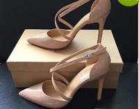 Neue Sommer Stil Frauen Lace Up Red Bottom High Heels Spitz Bandage Stiletto Sandalen Berühmtheit Damen Schuhe Pumps
