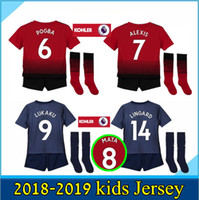 NEW 2018 2019 Manchester United Soccer Jersey kids kit with ...