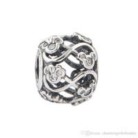 5 st / parti Disinering Rhinestone Infinity Charms 925 Silver Passar DIY Style Armband 791462CZ H6