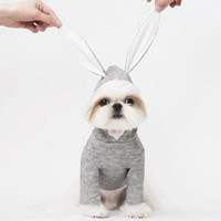 Cute Pet' s Hoodies With Rabbit Ear Teddy Puppy Apparel ...