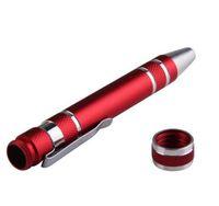 8 en 1 Precisión Pluma Magnética Estilo Destornillador Juego de Brocas Ranurado Phillips Torx Hex V1.5-3.5 Herramienta de Reparación para Vape DHL
