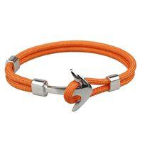 Braccialetto d'argento del braccialetto di ancoraggio di modo punk d'argento Handmade per gli sport dei gioielli degli uomini Braccialetti di fascino dei braccialetti dell'annata