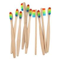Brosse à dents en bambou coloré Brosse à dents en gros de soins buccaux Oral Care à soies souples en bambou pour l'hygiène bucco-dentaire