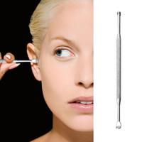 500 قطع الفولاذ المقاوم للصدأ ملعقة earpick إزالة الشمع الأذن أدوات التنظيف آذان السلامة earpick حفر الأذن العناية جهاز التنظيف جولة