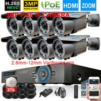 48V H. 265 8CH POE NVR System 4MP NVR Recorder With 8pcs 3MP ...