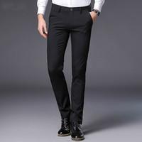 Haut de gamme Hommes Robe Pantalon Slim Fit Mode Printemps Été Casual Hommes Weeding Bureau Costume Pantalon D'affaires Hommes Pantalon Plus La Taille 38