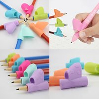 3pcs set Magic Children Silicone Pencil Holder Pen Writing A...