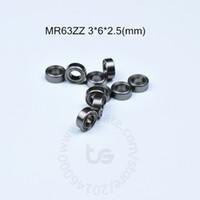 MR63ZZ 3 * 6 * 2.5(mm)10ピースABEC-5メタルシールミニチュアミニベアリングミニ軸受けMR63クロムスチールベアリング