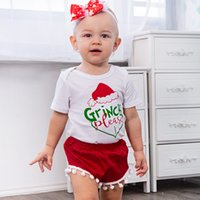 Ins Christmas Xmas outfits Letters Infants clothing Cute bod...