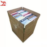 도매 2400Pcs / Lot 멀티 컬러 링 스터드 보석 저장 종이 상자 귀걸이 포장 상자 웨딩 파티 생일 반지 선물 상자 4 * 4 * 3cm