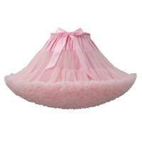 Yeni Düğün Gelin Petticoat Birçok Renkler Hoopless Kabarık Etek Lady Kızlar Jüpon Rockabilly Dans Petticoat Etek Tutu