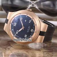 Nouveau P'6620 P6620 Edition Limitée Design Sport Racing Car Dive Watches Rose Gold Black / Grey Dial Flat Six automatique Mens Watch Caoutchouc pd39