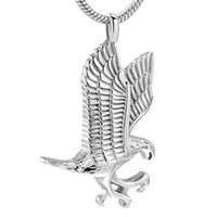 IJD10077 Волант Eagle Мемориальная Урна ожерелье из нержавеющей стали 316L Женщины Мужчины Keepsake Кремация ювелирные изделия Держите Pet Ashes
