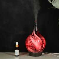 Colorful Aroma Lamp 3D Design Glass Star Effect Pattern Atmo...