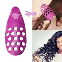 2Pcs Hair Fringe Clip Front Bangs Curler Roller Holder Pin D...