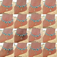 Mixed 80 Styles Bohemia Anklets With Turquoise Beads Animal ...