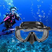 Unisex Anti-fog vidro temperado Mergulho Máscara Snorkeling Goggles Óculos Swim Eyewear Professional Diving máscara da natação Óculos