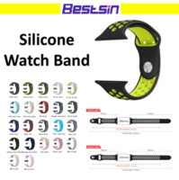 Bandas de reloj de correas inteligentes de NK Sport Silicone Hole para Apple Watch serie 4/3/2/1 40mm 44mm