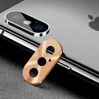 Protetor de lente da câmera de metal case para iphone x xs max xr 7 8 além de lente traseira anel de proteção do círculo anel bumper bumper saver
