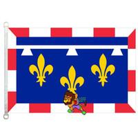 센터 (프랑스) 깃발, 90 * 150cm, 폴리 에스테르 100 %, 배너, 디지털 인쇄
