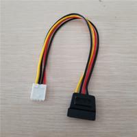 1pcs 4Pin FDD Floppy hembra a 15Pin SATA hembra adaptador convertidor de energía Lleva cuerdas de cable 18 AWG cable para PC ITX
