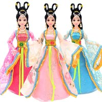 Children Toys Barbie Model Toys Chinese Costume Dolls Clothe...
