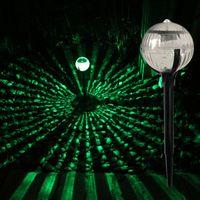 lampade solari paesaggio portato prato palla a forma LED illuminazione esterna solare del giardino della luce decorazioni colorate di plastica leggera e acciaio inox