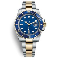Brand Famous Logo Blue Ceramic Bezel Mens Automatic Movement...