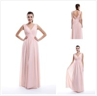 Pink Chiffon Bridesmaid Dresses A Line Off- Shoulder Chiffon ...