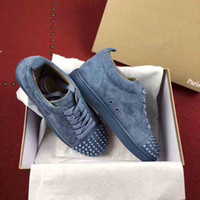 Originals Quality Classic Design Bottom rosso Bottom Sneakers basse cutanee Rivetti Spikes junior Orlato Plateau uomo pelle scamosciata verde mesh 35-47