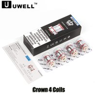Authentic Uwell Crown 4 Coil Dual SS904L 0. 2Ohm 0. 4ohm UN2 M...