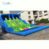 Jardim atacado gigante giglable desliza inflável parque de água de lâminas pular de salto de piscina com ventilador para venda