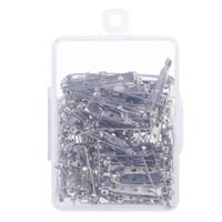 100pcs / set Bar Pins Brosche Backs Sicherheitsverschluss mit Kunststoff-Box, 4 Größe gemischt versandkostenfrei