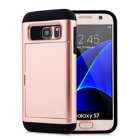 Slider Card Slot Case For Samsung Galaxy Note 9 S9 Plus S8 S...