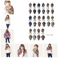 Children' s scarves square scarf classic fashion plaid s...