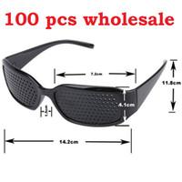 نظارات الثقب 100 قطع جديد أسود للجنسين رؤية الرعاية ثقب هول نظارات نظارات العين التمارين البصر رؤية تحسين dhl شحن